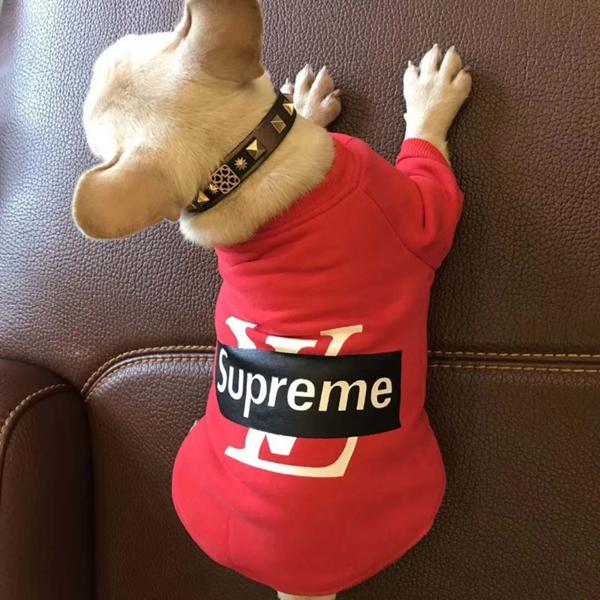 シュプリーム&ルイヴィトンコラボ 犬服